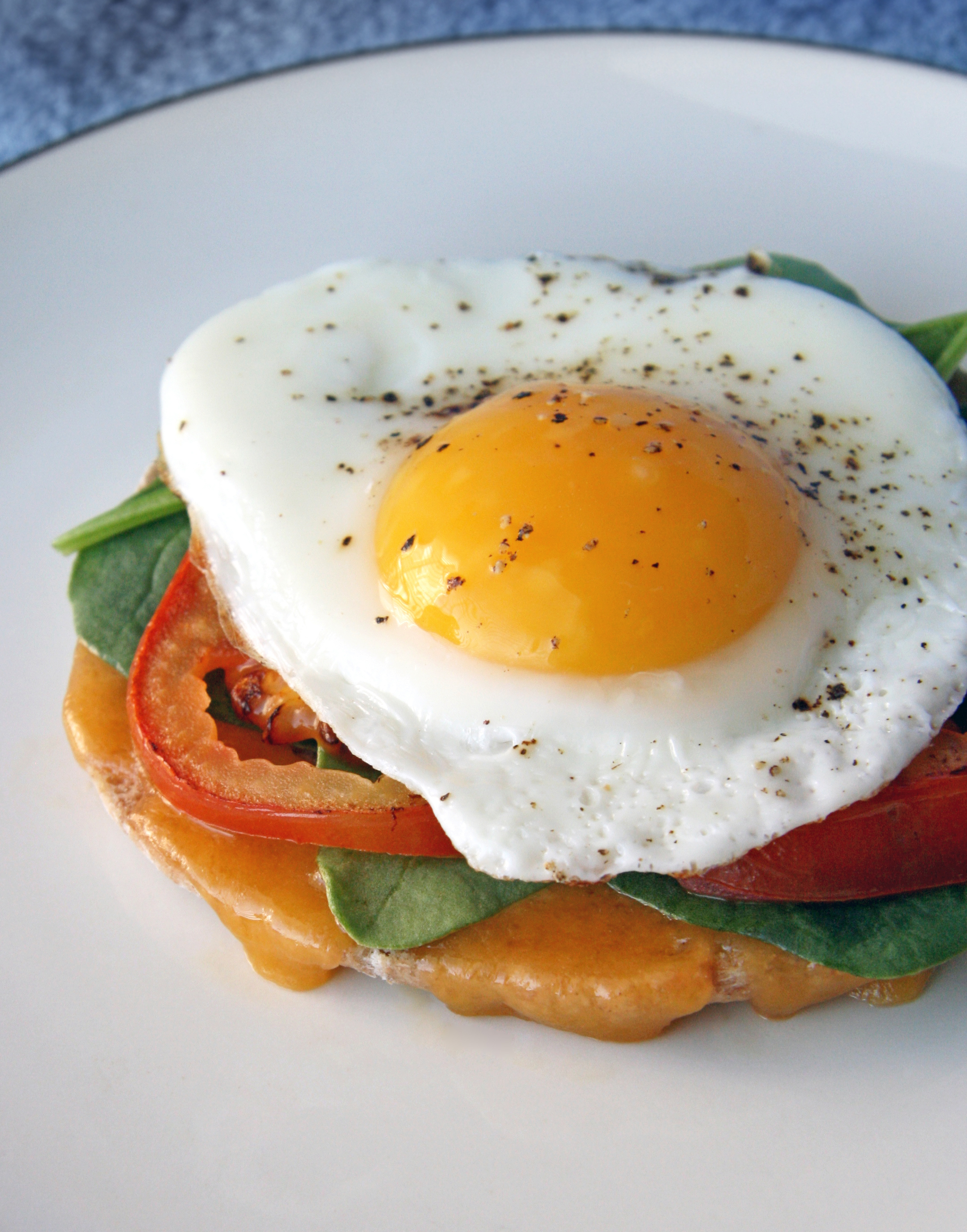"Open-Faced Egg Sandwich (aka ""The Neely McMuffin"")"