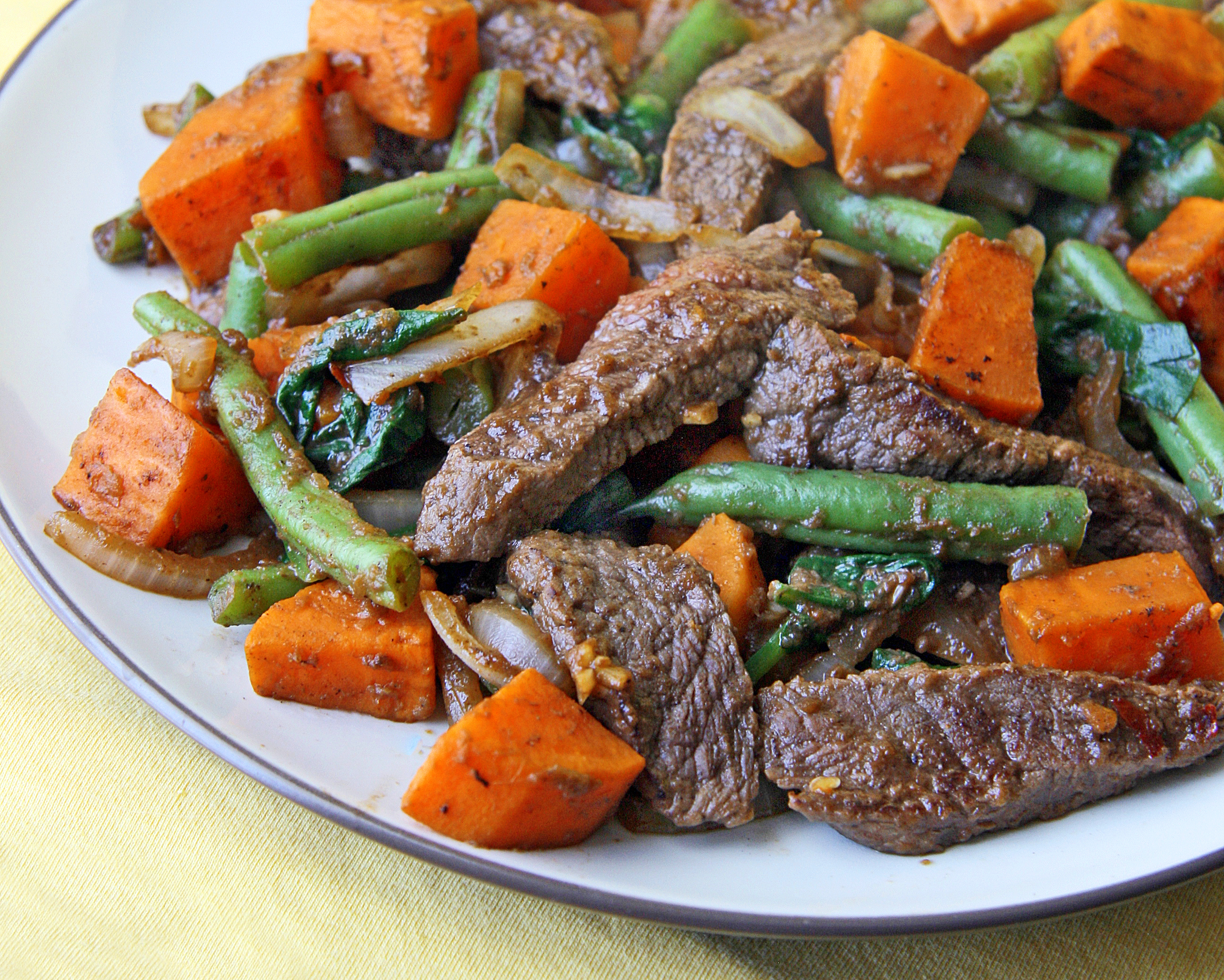 Steak Sweet Potato Veg