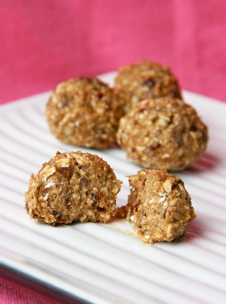 "Oatmeal ""Raisin"" Cookie Dough Bites | Natural Noshing"