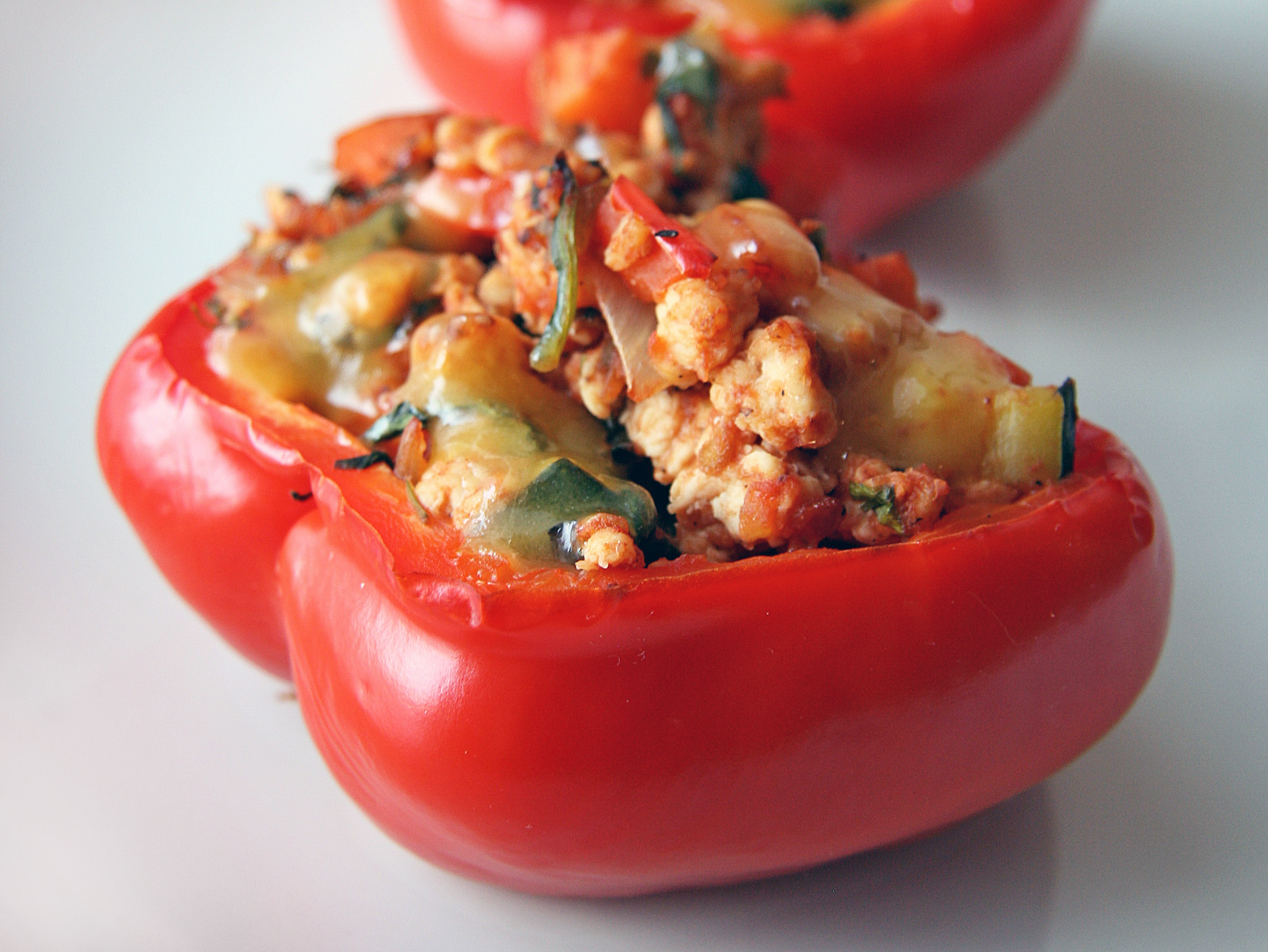 Turkey Stuffed Peppers | Natural Noshing