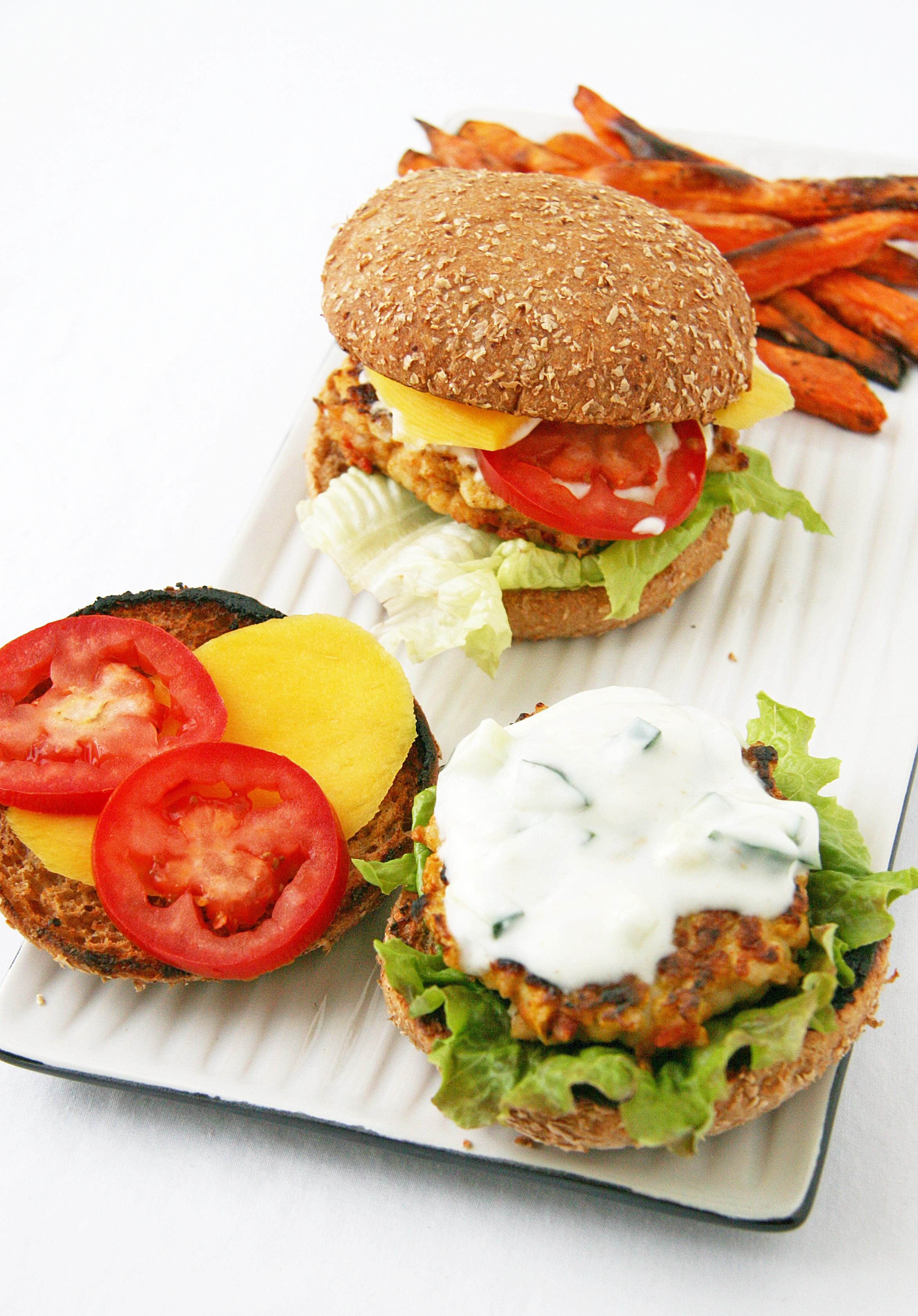 Curried Turkey Burgers Natural Noshing