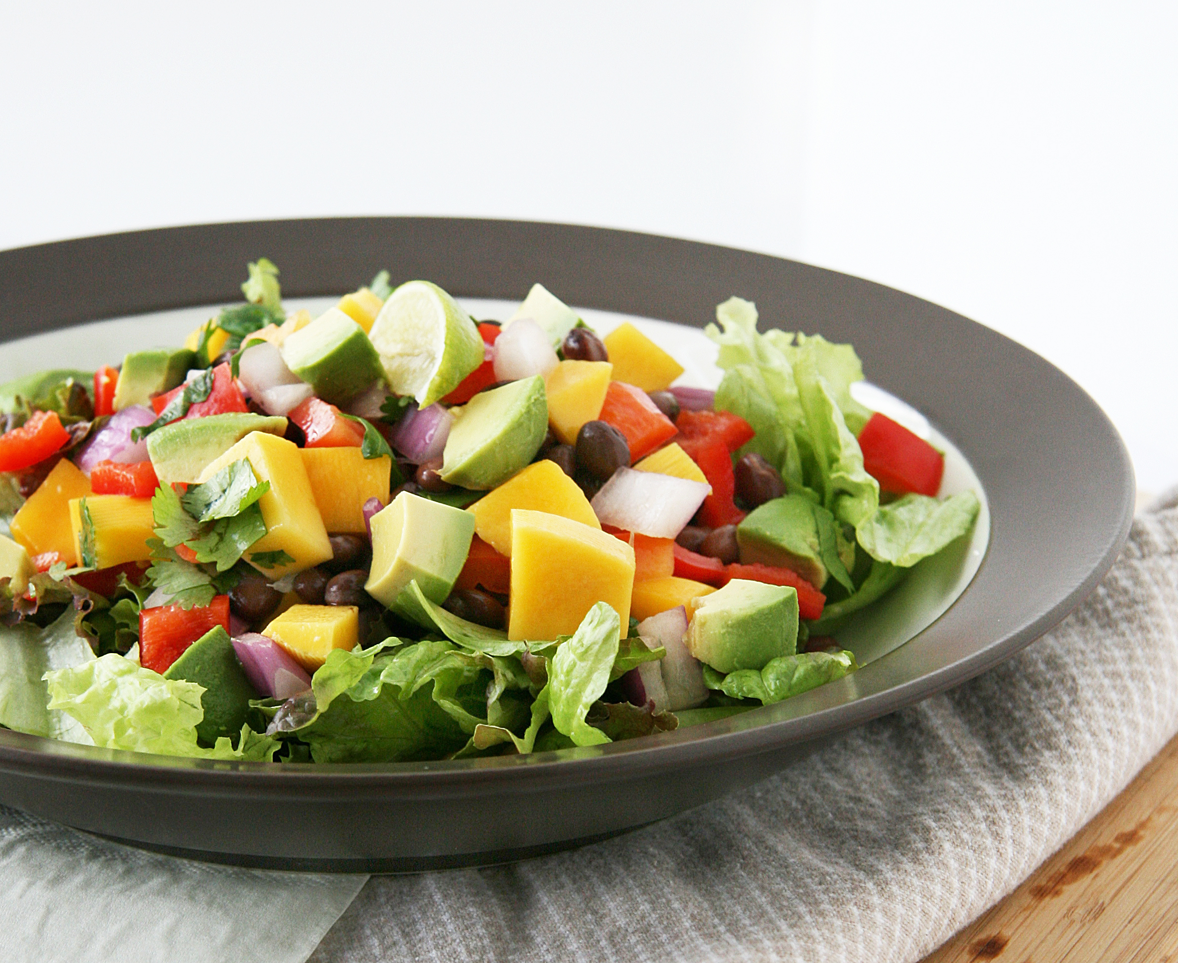 Chop-Chop Mango and Black Bean Salad | Natural Noshing