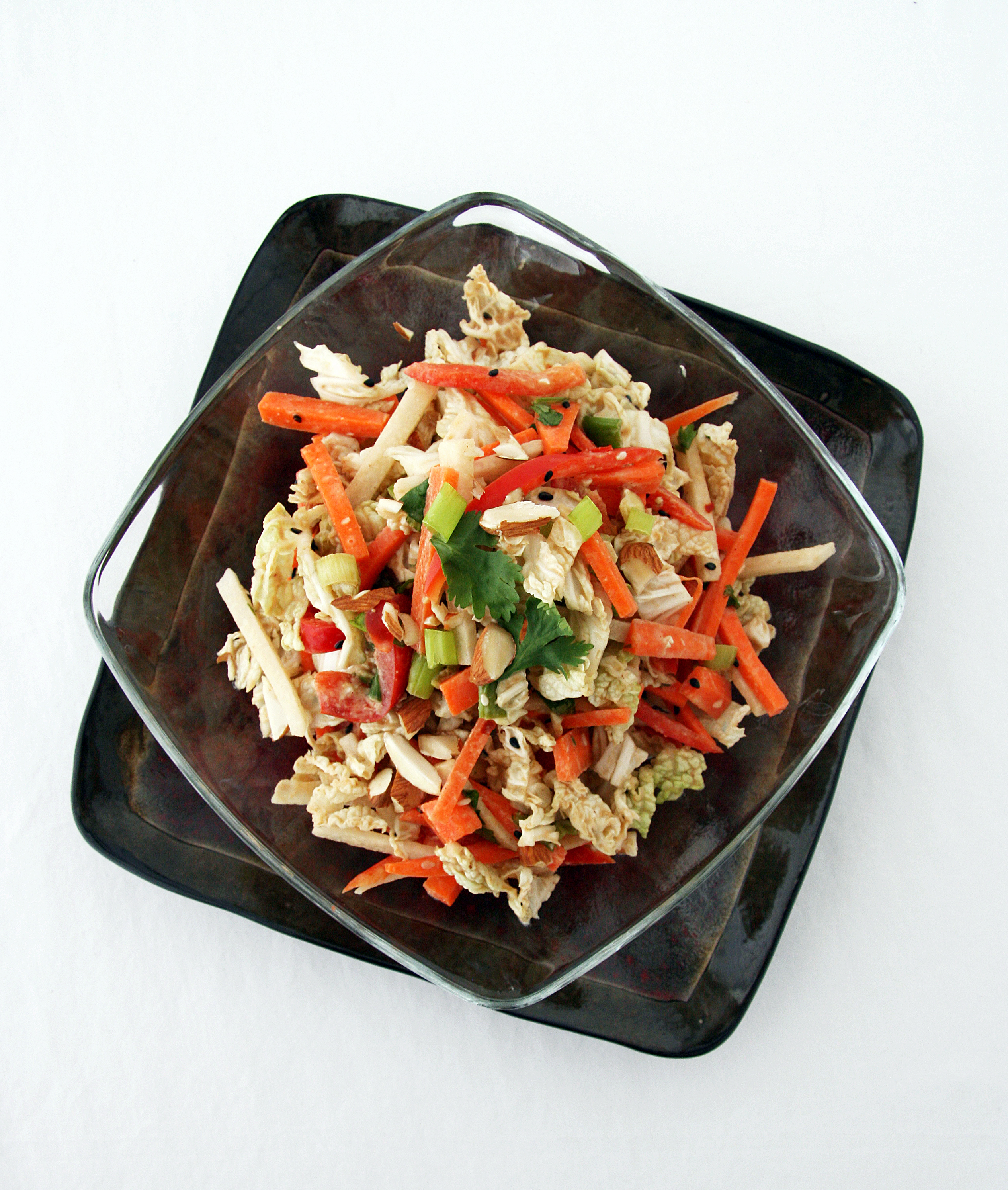 Asian-Style Slaw with Peanut Dressing