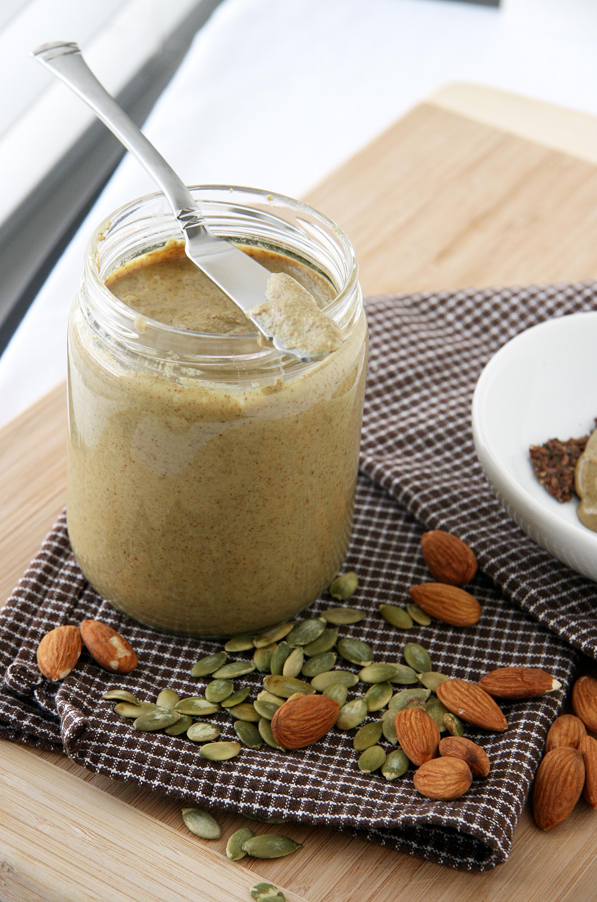 Roasted Almond-Pumpkin Seed Butter