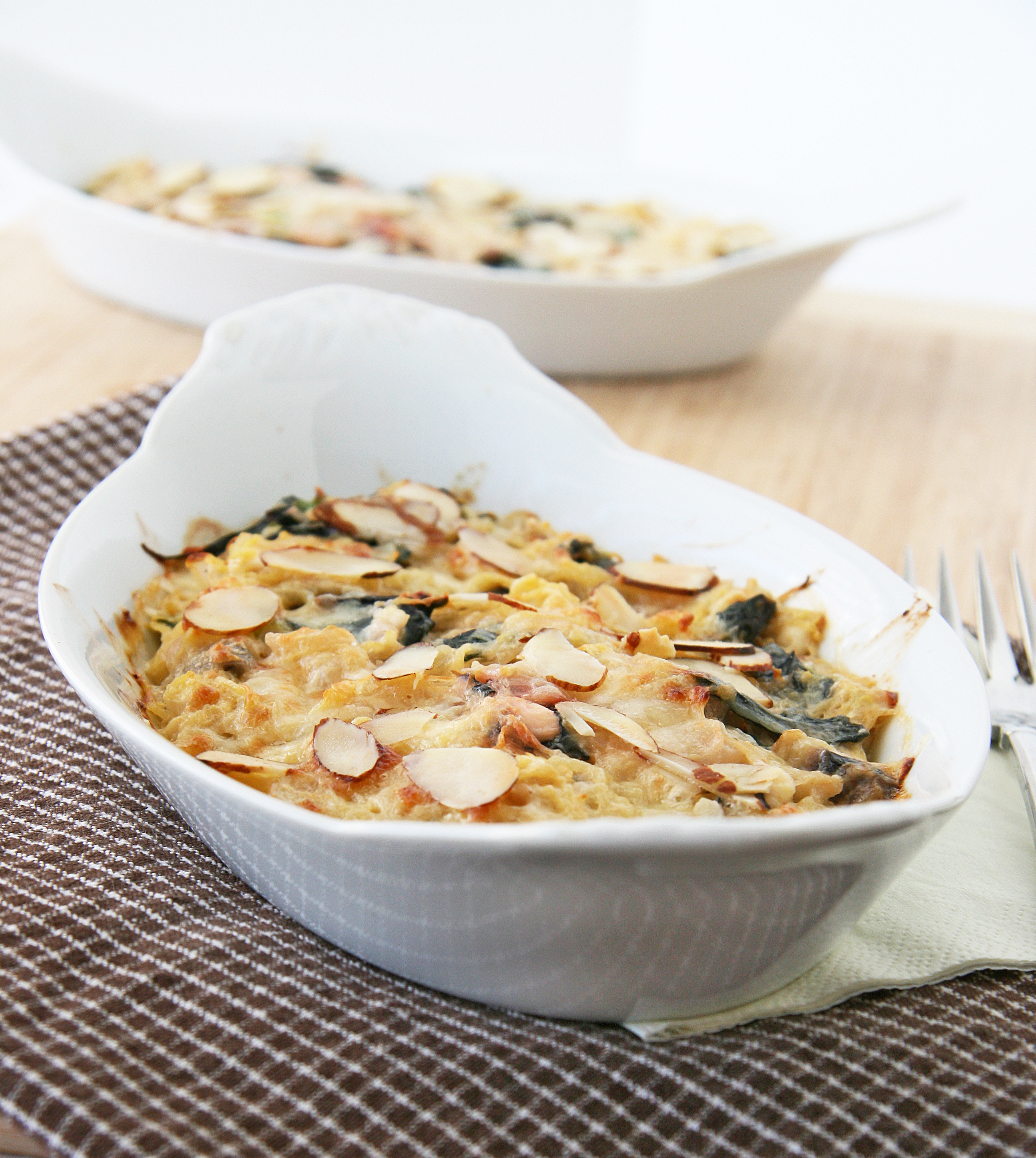 Swiss Chard, Fennel, And White Bean Gratin Recipe — Dishmaps