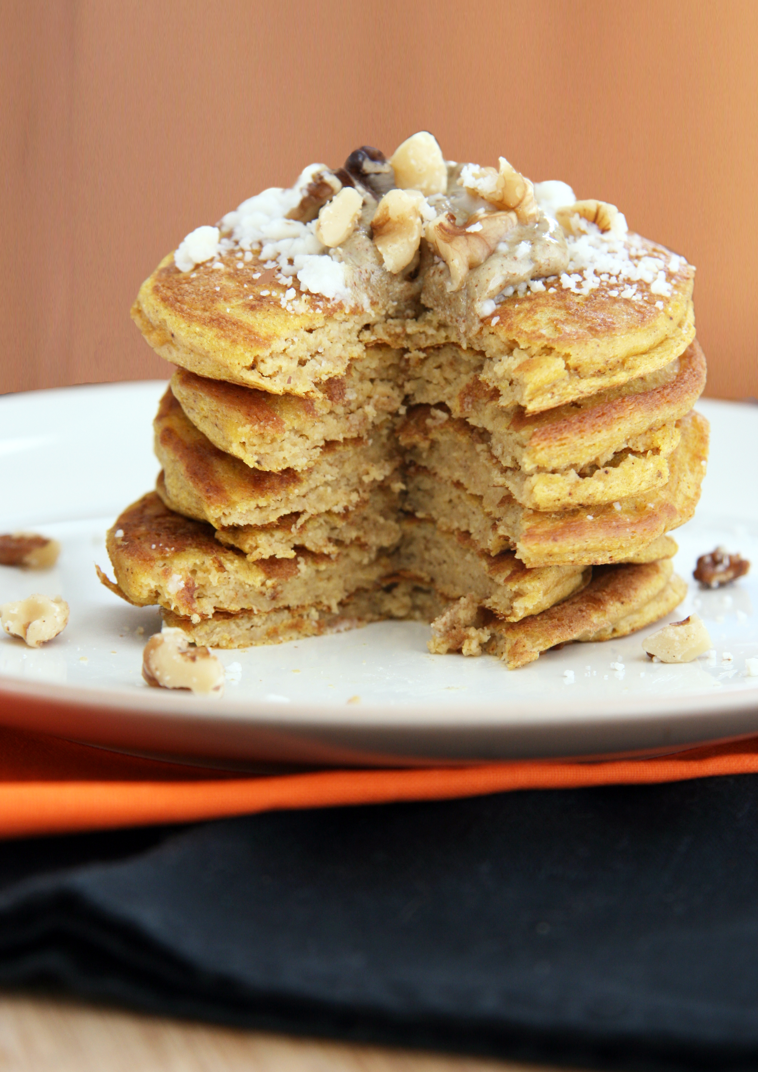 pumpkin pancakes bite