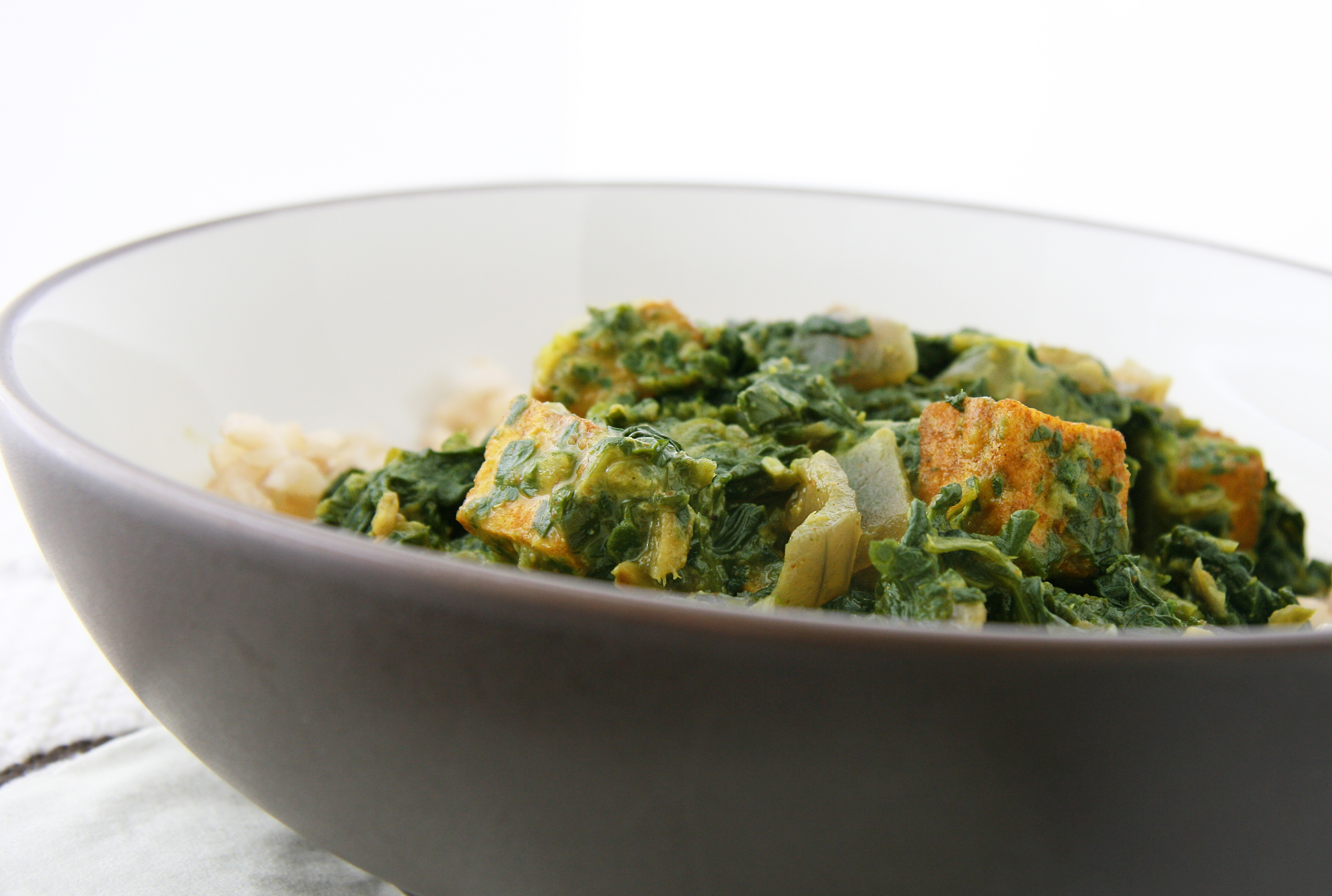 Saag Paneer (adapted from Aarti's Saag Paneer )