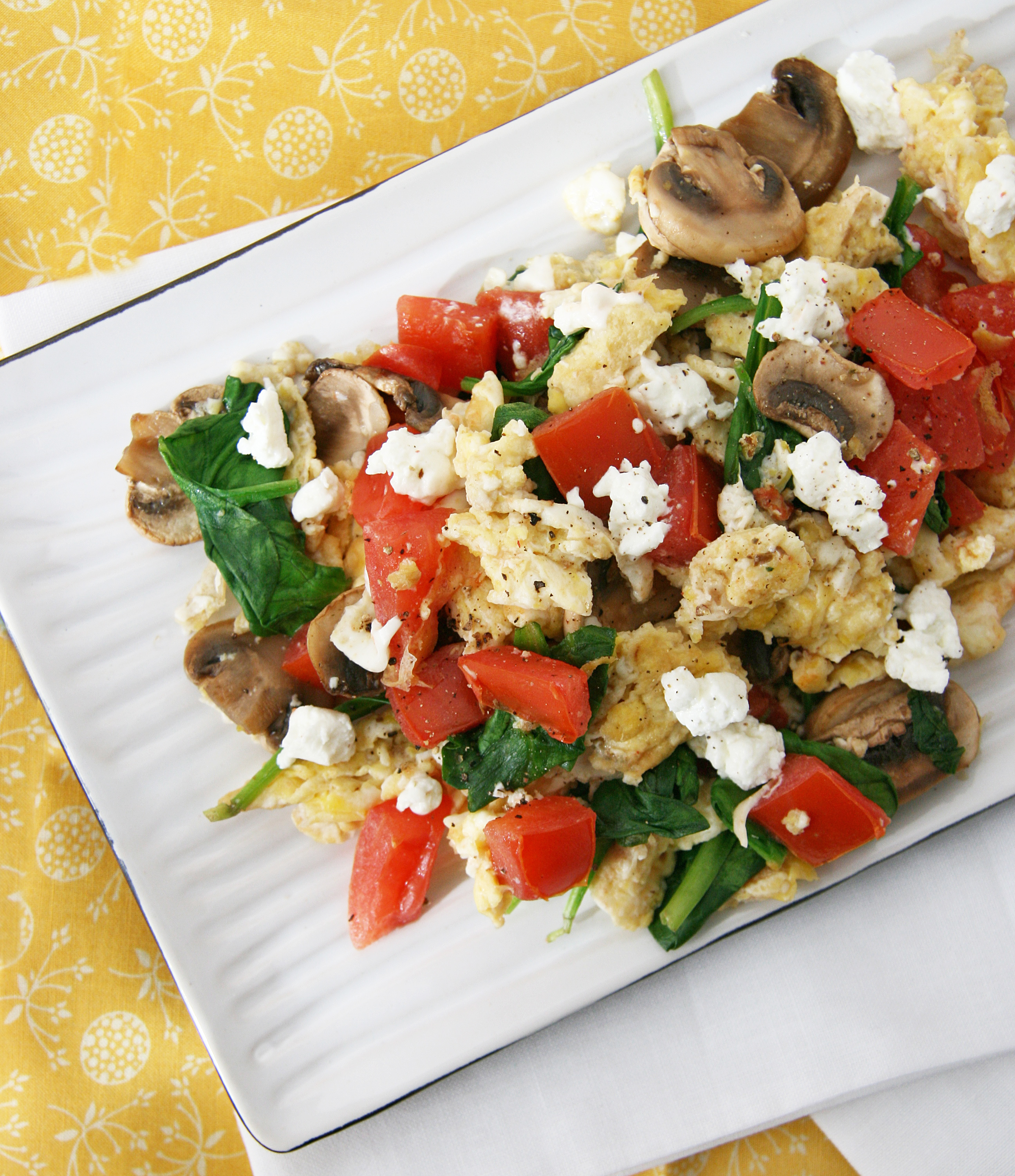 Ham And Avocado Scramble Recipe: Scrambled Eggs With Veggies And Cheese