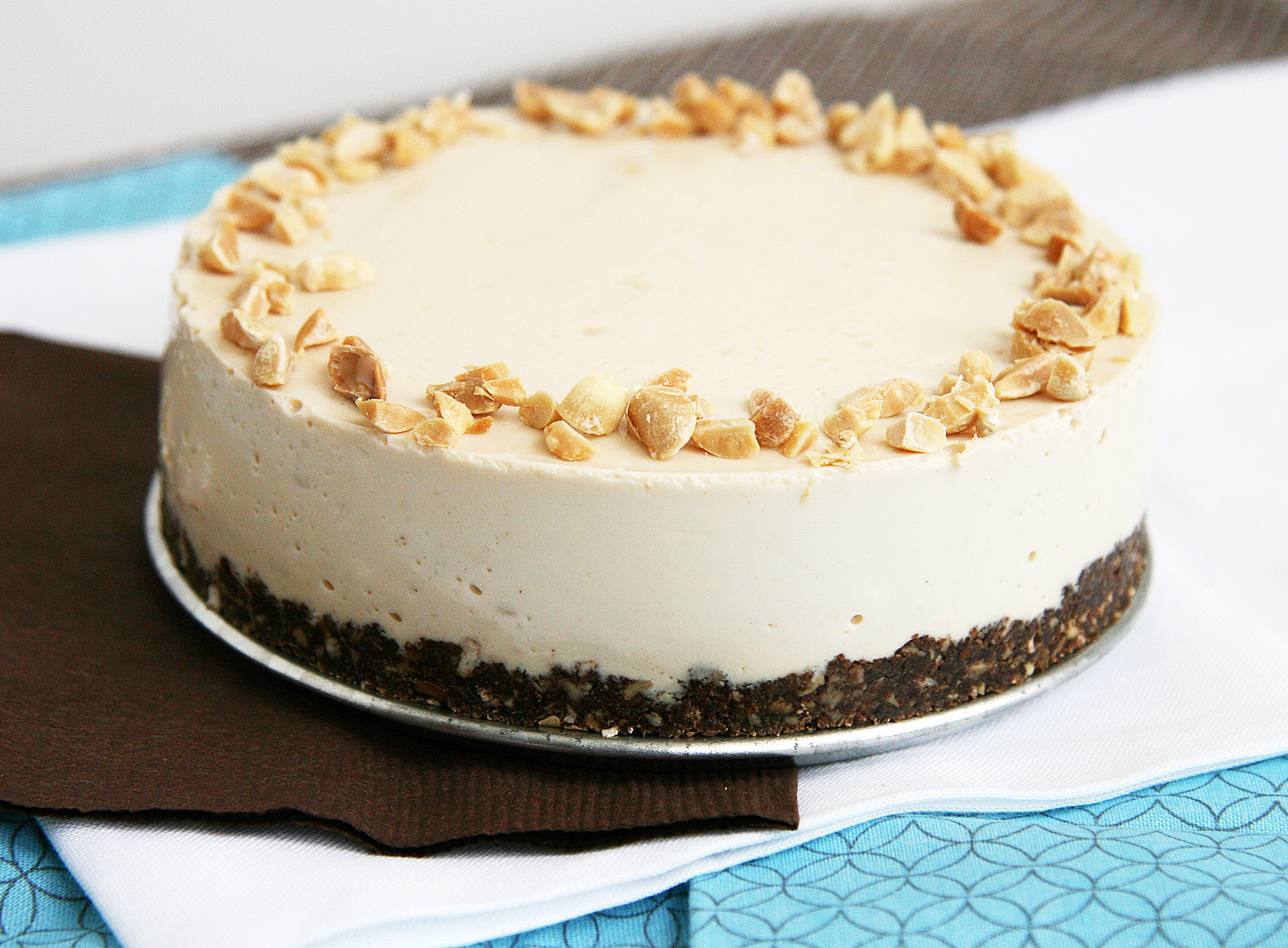 Peanut Butter No-Bake Cheesecake (with PB and J Option) | Natural ...