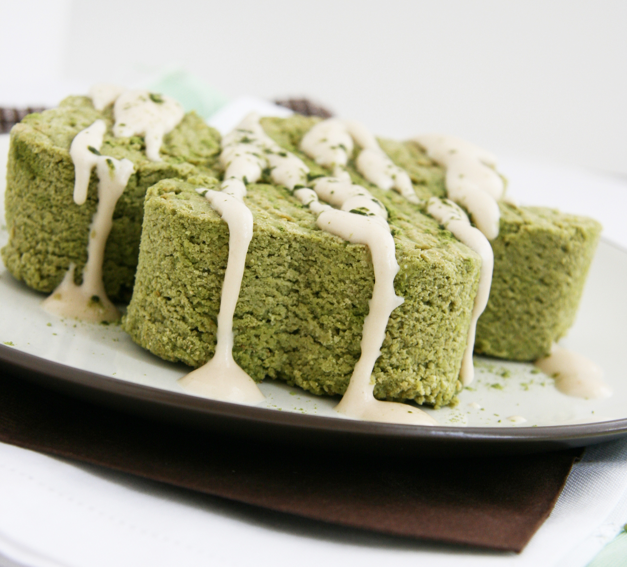 green tea pound cake with cashew cream drizzle natural. Black Bedroom Furniture Sets. Home Design Ideas