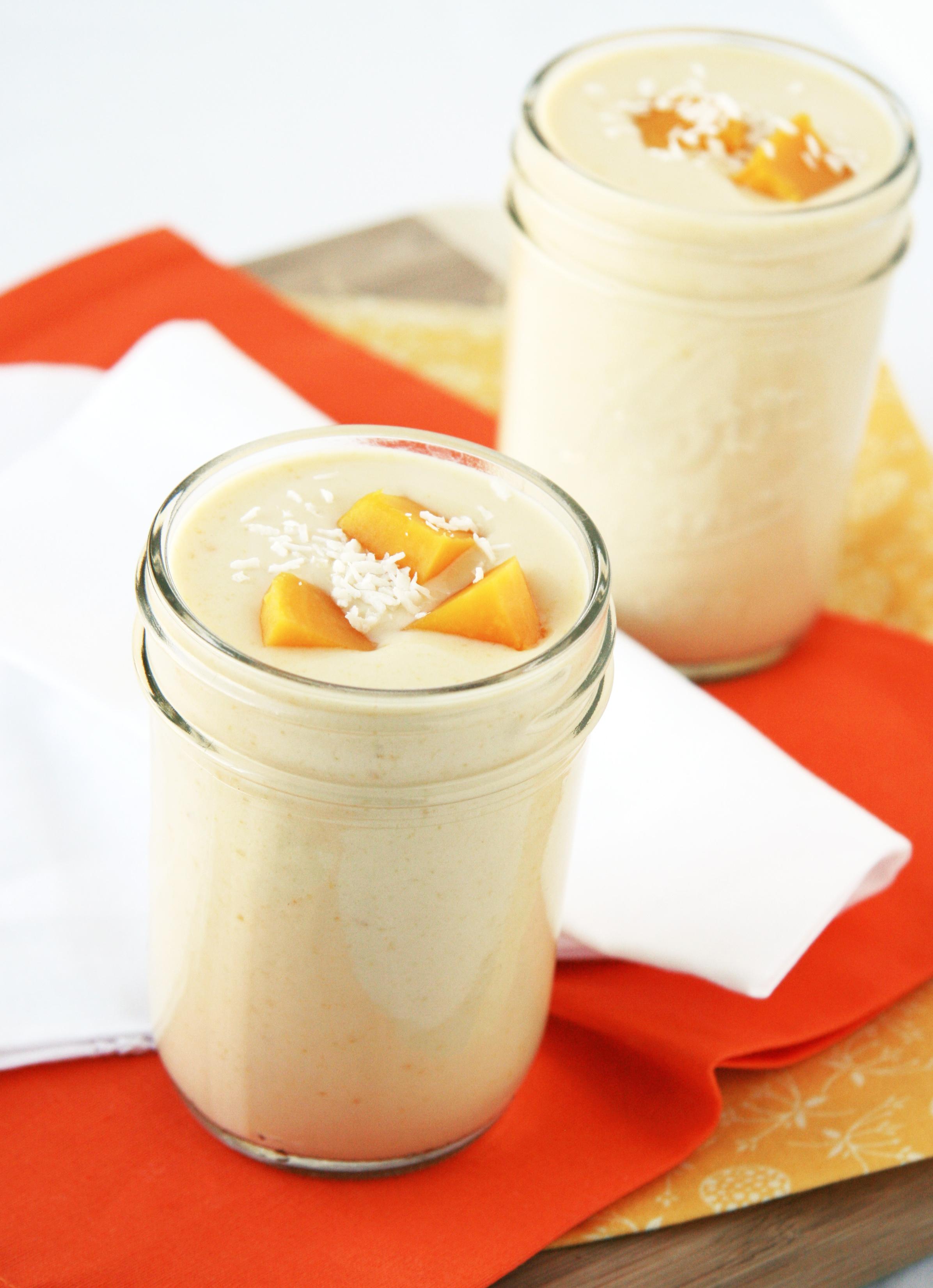 Peach Mango Lassi | Natural Noshing