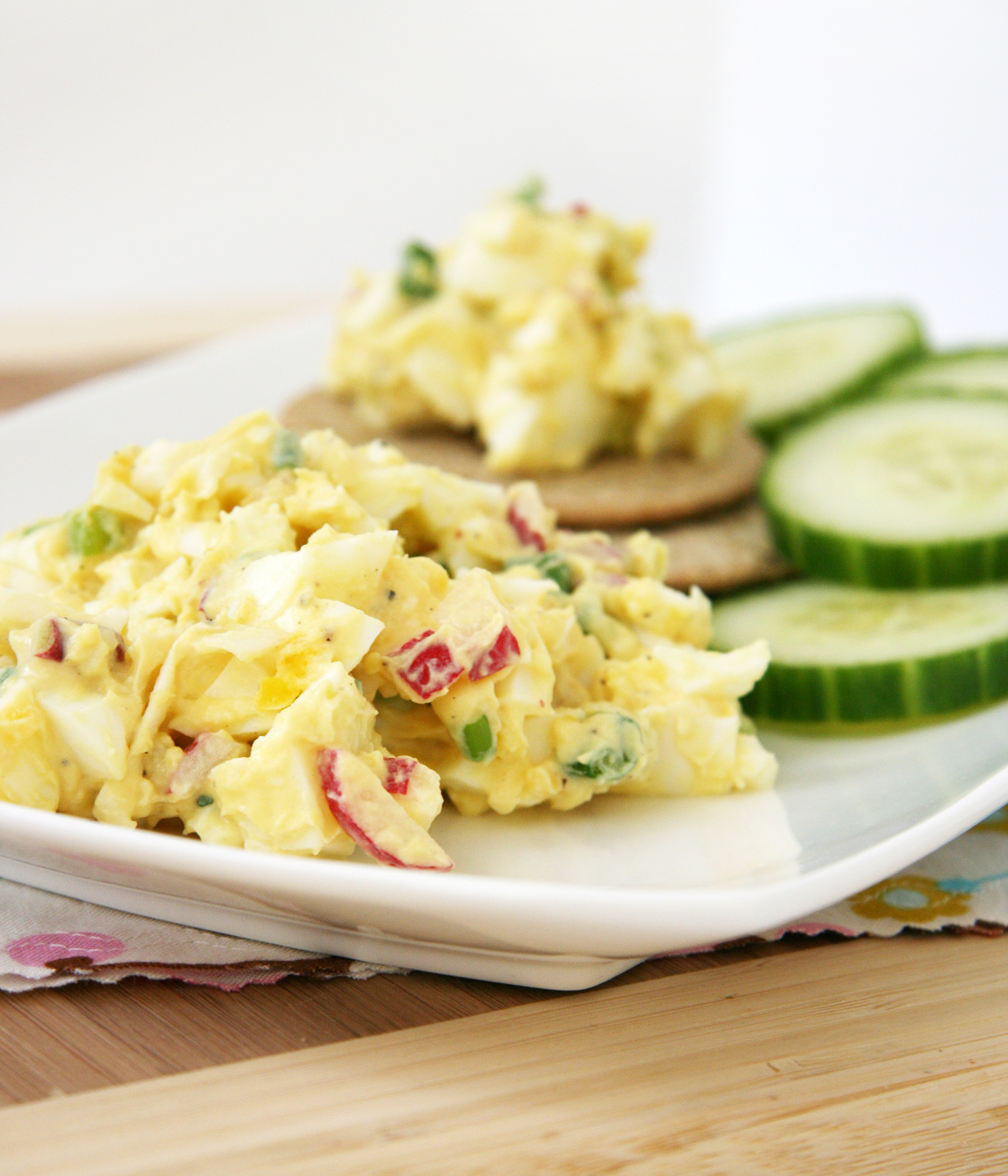 Easy Spring-y Egg Salad | Natural Noshing