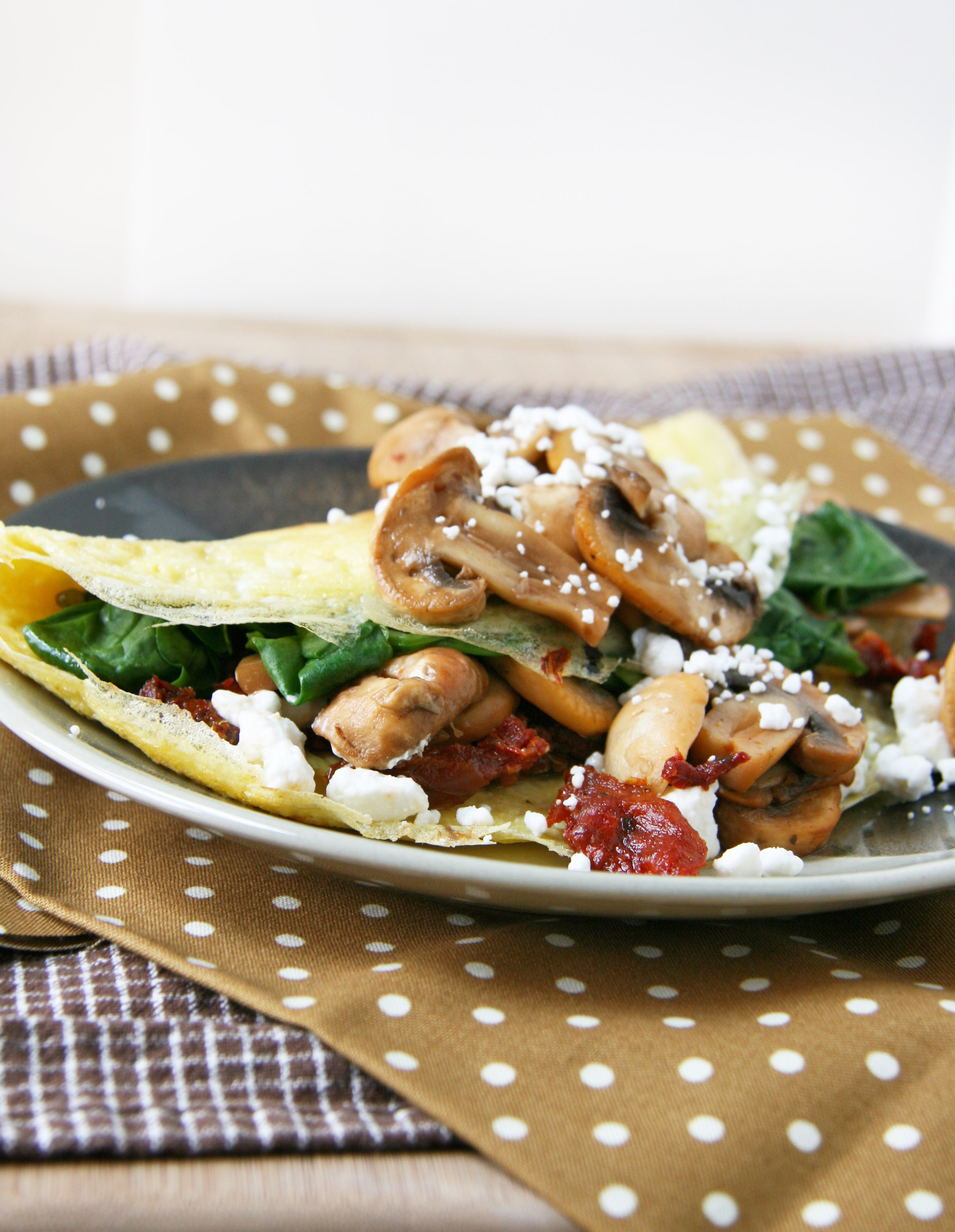 mushrooms with goats and sun dried tomato salad sun dried tomato and ...