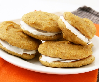 Butternut Whoopie Pies With Goat Cream Cheese Filling