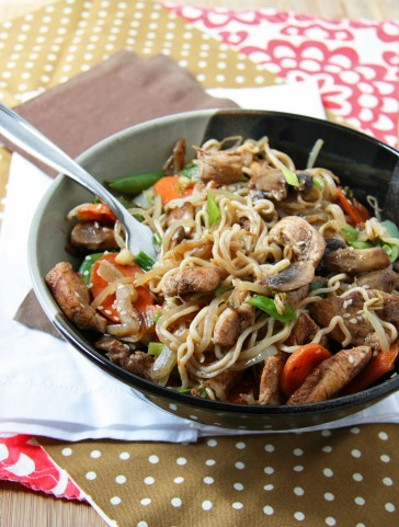 chicken lo mein bowl