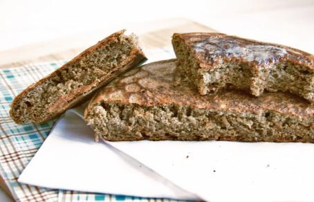 quinoa buckwheat skillet bread bite1