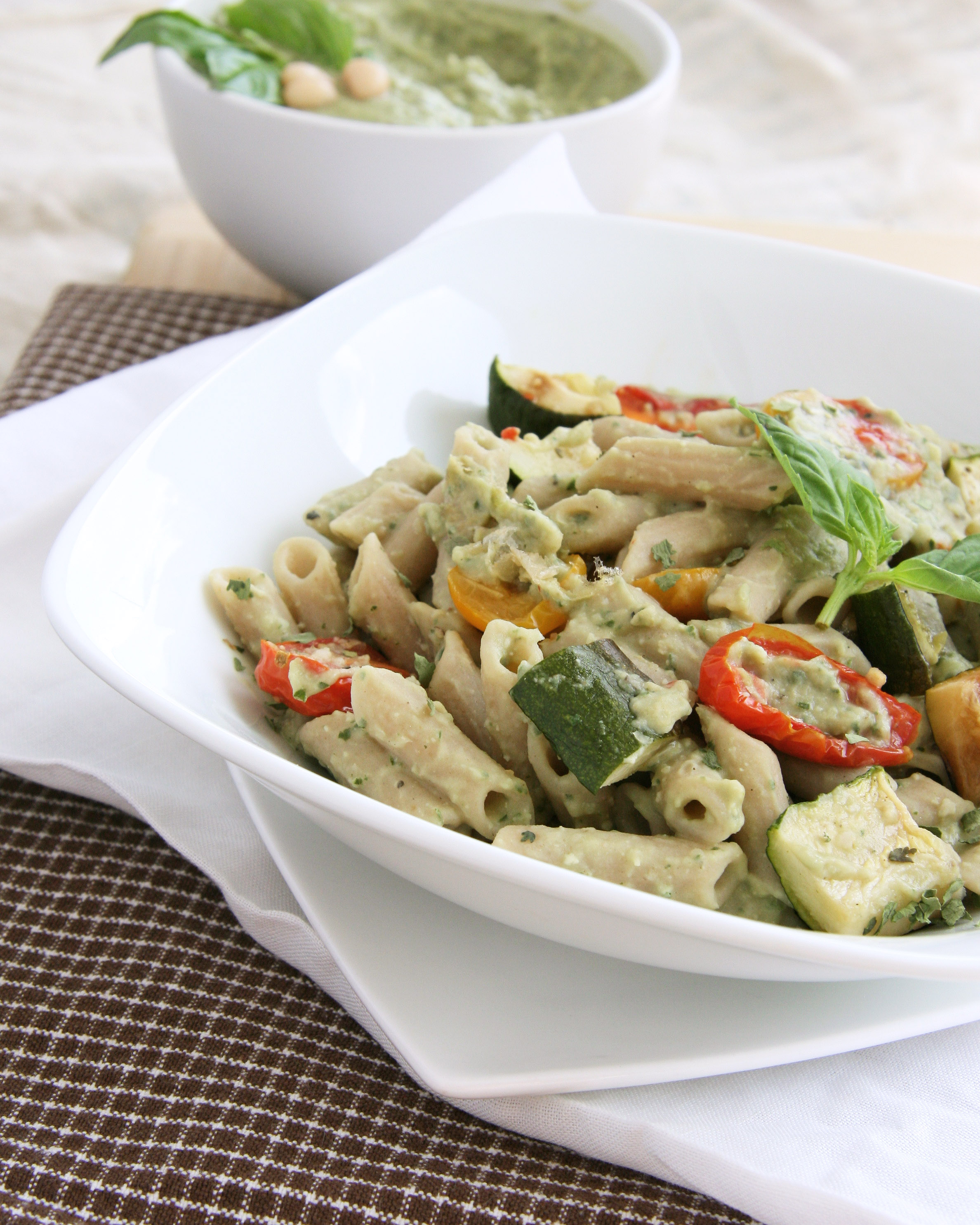 Penne With Sweet Summer Vegetables, Pine Nuts, And Herbs Recipes ...