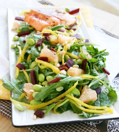 salmon mango grapefruit salad3