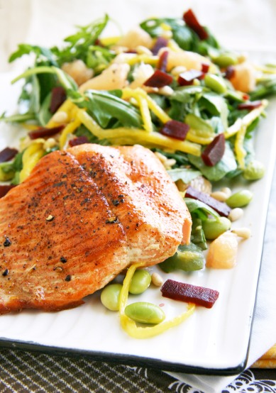 salmon mango grapefruit salad4