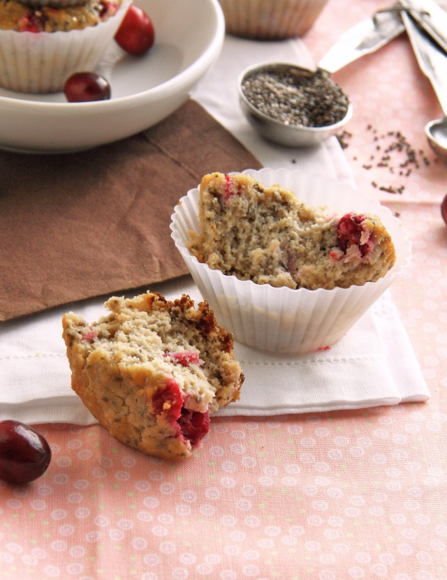 cranberry chia muffin bite