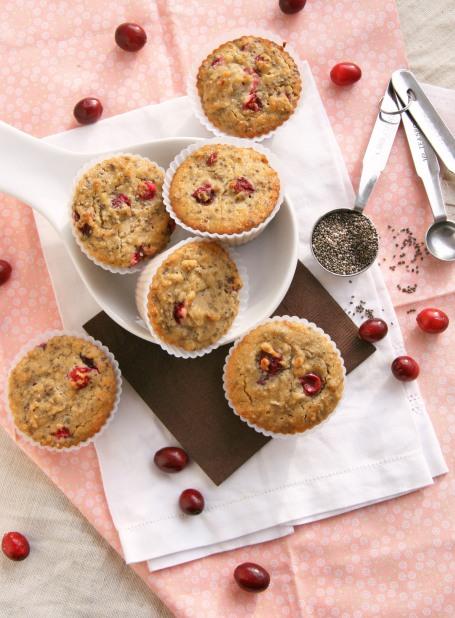 cranberry chia muffins 2