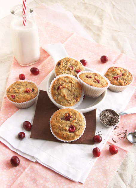 cranberry chia muffins
