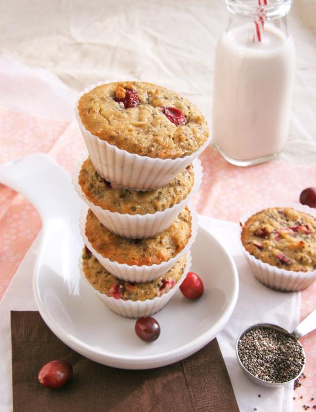 cranberry chia muffins1