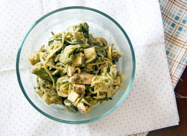 avocado chicken broccoli zoodles 1