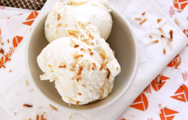 toasted coconut ice cream bowl