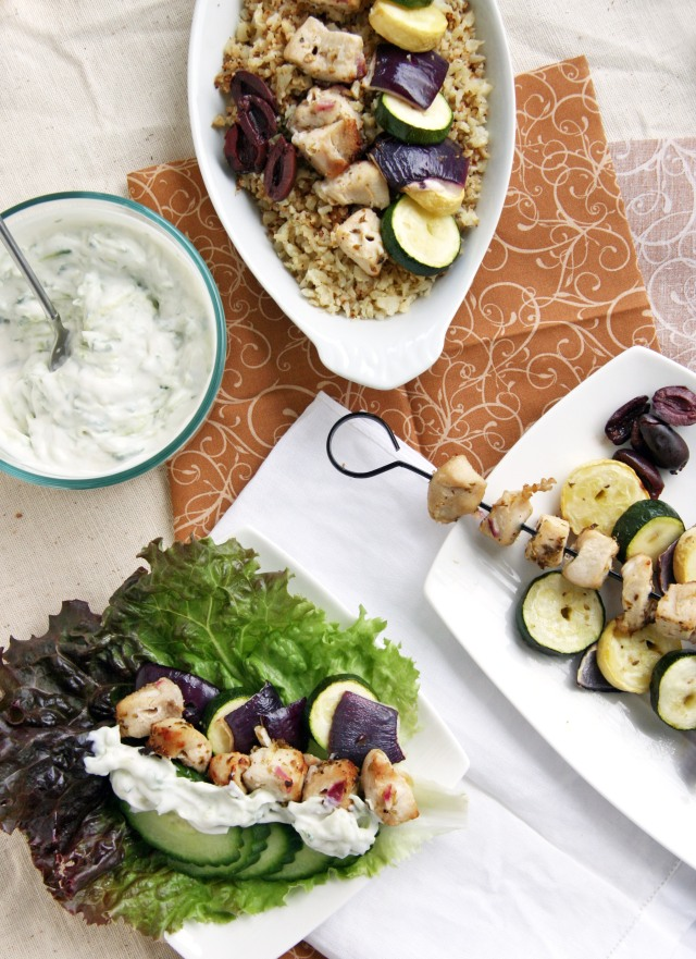 Soulvaki 3 dishes