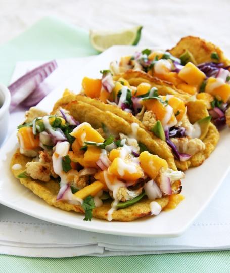 cauliflower tacos mango salsa