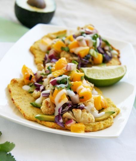 cauliflower tacos mango salsa1