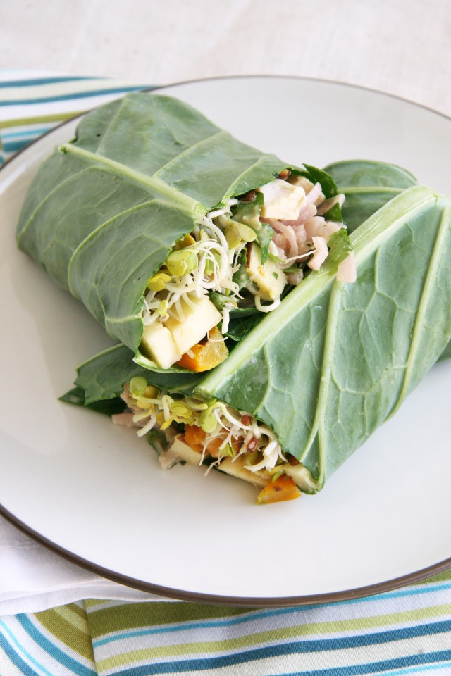 collard wrap chicken sprouts apples