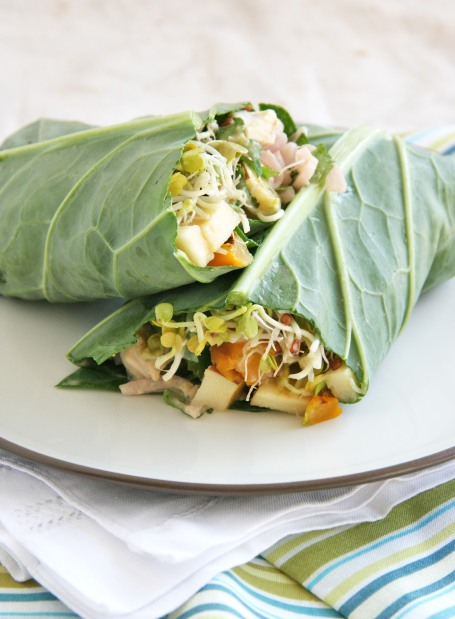 collard wrap chicken sprouts apples2