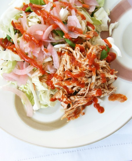 shredded bbq chicken slaw