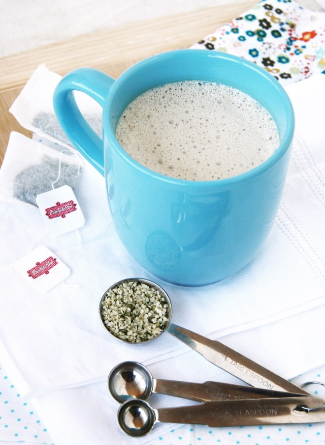 white choc mint tea latte